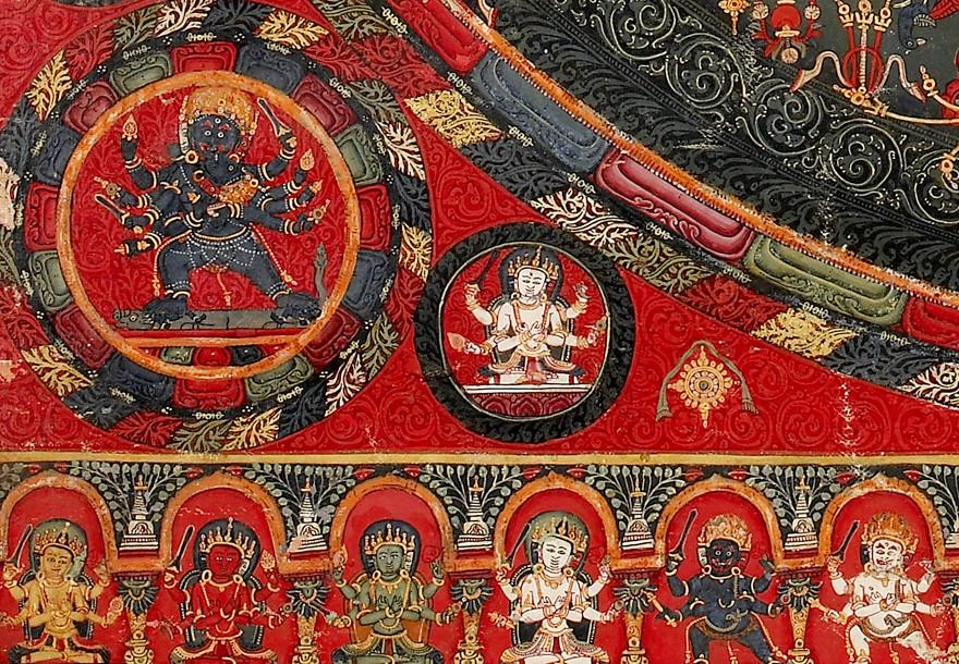 Mandala painting, Tibet, 1400-1450 (Museum no. EA2007.246)