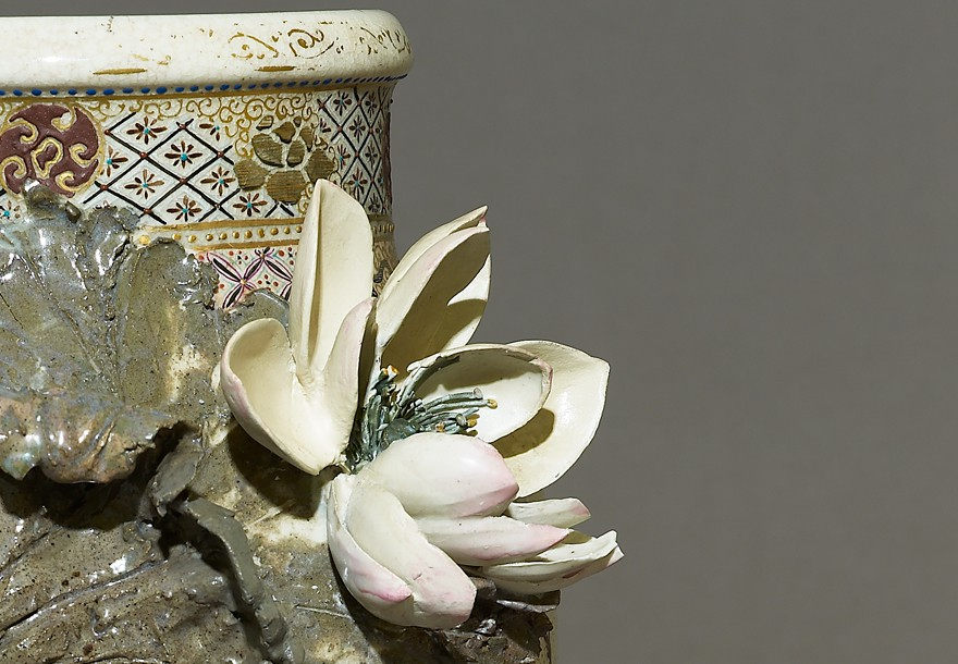 Satsuma-style vase with high-relief decoration, Japan, 1870s (Museum no. EA2008.65)