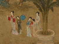 Detail of 'Spring Morning in Han Palace', by Gu Jianlong, 17th century (Museum no: EA2007.167)