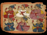 Detail of Noblemen in durbar, Rajasthan, 18th century (Museum no: EA2012.225)