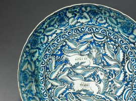 Dish with horses, Iran, 17th century (Museum no: EA1978.2167)