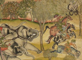 Elephant hunt, Kota, India, about 1745 (Museum number: LI118.77)