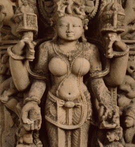 Stele with the goddess Gauri or Siddha, Uttar Pradesh, 11th century (Museum no.: EA1999.21)