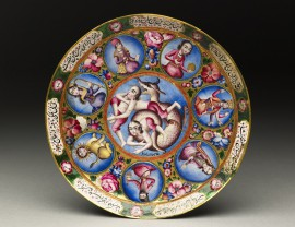 Saucer with astrological design, Iran, early 19th century (Museum no. EA2009.3)