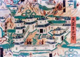 Detail from mural painting of Wutaishan at Dunhuang (cave 61), Shanxi province. © Xinhau/Sovfoto