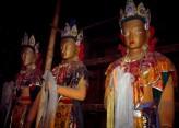 Fig. 12. Standing Bodhisattvaimages. Painted clay, with woodenarmature. Keru temple, Tibet, c.820 . © John Clarke