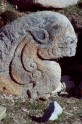 Fig. 13. Stone lion. Lhatse tombs, Tibet, <em>c.</em>eighth century. H. 80 cm. © Amy Heller