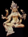 Fig. 20. Vasudhara. Gilt copper. Nepal, twelfth century. H. 16.5 cm. <em>Formerly Heeramaneck Collec. &copy; Heeramaneck Collection