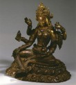 Fig. 21. Vasudhara. Cast gilt copper on repoussé base. H. 16.2 cm. Museum Rietberg, Zurich. © Museum Rietberg, Zurich