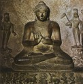 Fig. 2. Seated Buddha: The First Sermon. Sandstone. Sarnath, late fifth century AD. Sarnath Museum. © Robert Skelton