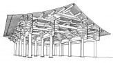 China building sketch. © Ashmolean Museum, University of Oxford