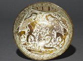 Bowl with riders in a landscape