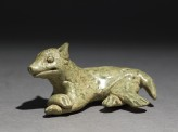 Greenware burial figure of a dog