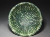 Bowl with splashed decoration in green