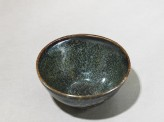 Black ware tea bowl with 'tortoiseshell' glazes (EA1956.761)