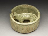 Greenware burial figure of pig in a pen (EA1956.961)