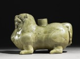 Greenware vessel in the form of a lion