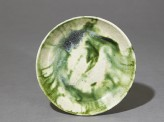 Saucer with splashed decoration in green (EA1956.1041)