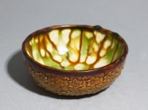 Bowl with floral decoration and three-colour glaze (EA1956.1044)