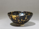 Black ware tea bowl with 'tortoiseshell' glazes (EA1956.1409)