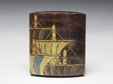 Inrō with gold and silver sails (EA1956.1768)