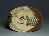 Satsuma cake or sweets dish with crane and turtle