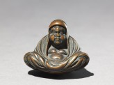 Netsuke in the form of Daruma meditating