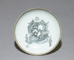 Saucer with the arms of Vaughn of Brecknockshire impaling Bond