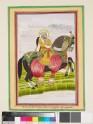 Equestrian portrait of Maharaja Mansinghji of Jaipur