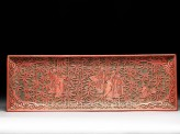 Pen tray depicting the Seven Sages of the Bamboo Grove