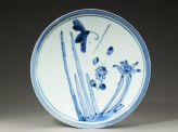 Plate with butterfly and flowers (EA1966.190)