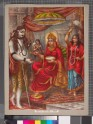 The goddess Annapurna giving alms to Shiva