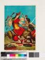 The goddess Astadasabhuja Devi with 18 arms