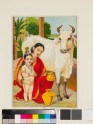 Go-dohana milking the cow