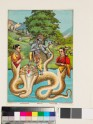 Krishna Kaliyamardana killing the serpent Kaliya in the Jumna River