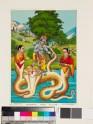 Krishna Kaliyamardana killing the serpent Kaliya in the Jumna River