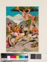 Rama and Lakshmana grieve a dead hero, sheltered by Hanuman