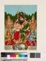 Pancha-deva: Shiva and his family with Vishnu, Surya, Lakshmi, and Ganesha