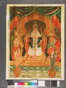 Monarch being worshipped by Garuda and Hanuman