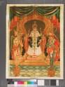 Monarch being worshipped by Garuda and Hanuman