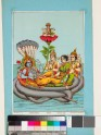 Vishnu reclining on the serpent Shesha