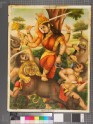 The goddess Devi slaughtering her enemies