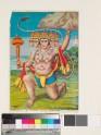 The five-headed Hanuman holding up the mountain