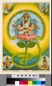 The goddess Gayatri sitting on a lotus