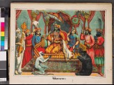 Rama surrounded by attendants