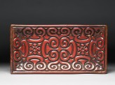 Carved lacquer tray with guri scrolling design (EA1967.138)