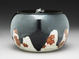 Mizusashi, or water jar, with maple leaves (EA1968.24)