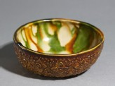 Bowl with floral decoration and three-colour glaze (EA1972.19)