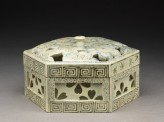 Hexagonal box with cherry blossoms (EA1975.24)