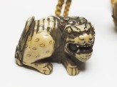 Netsuke in the form of a shishi, or lion dog